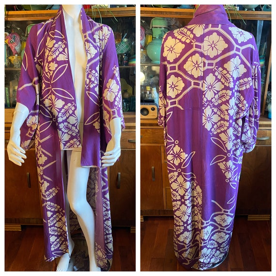 Vintage Kimono with Deco print