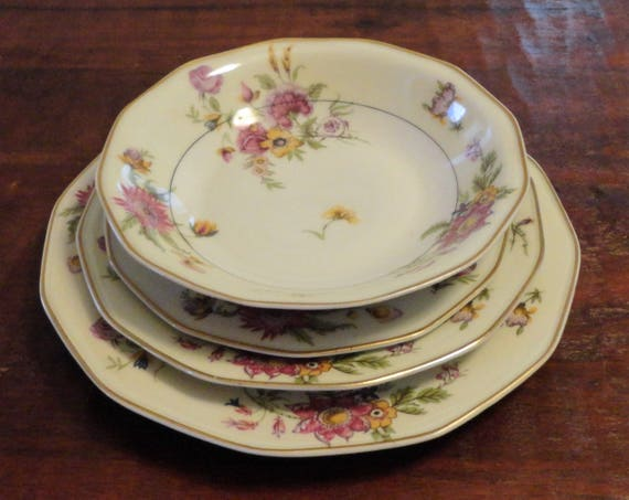 Antique Theodore Haviland Limoges Four Piece Setting All