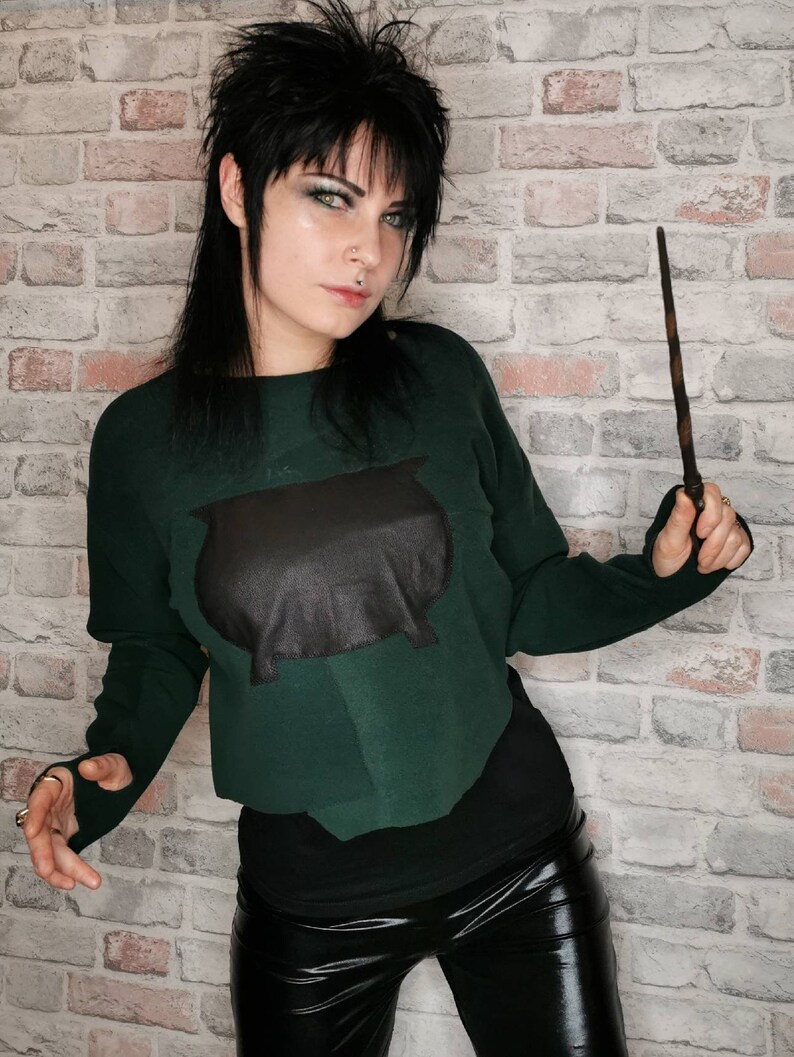 Witchy jacketwitch jumperstrega fashioncrop jumpergothicgothic sweathergothic jumperbohostregacrop top