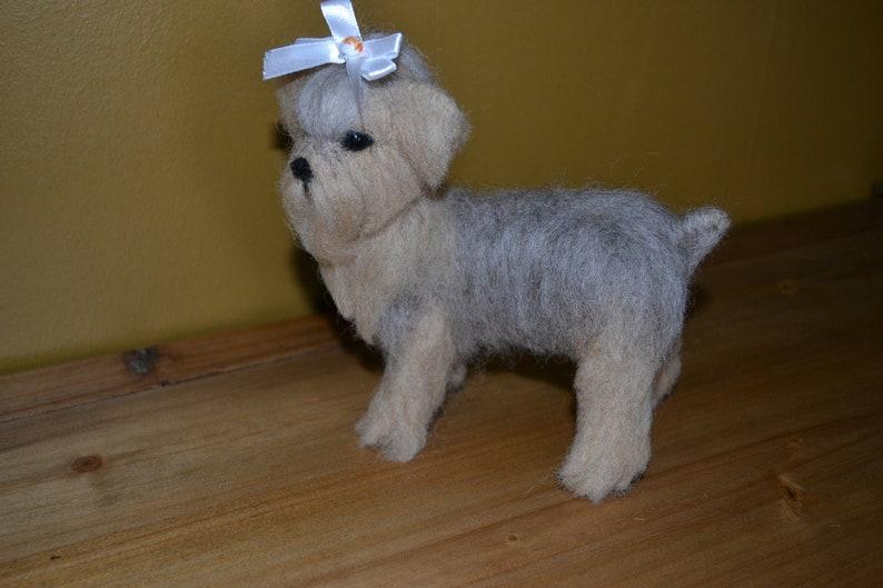 Felted Terrier Dog Yorkshire Terrier Art Needle Felted Dog Felted Wool Yorkie Sculpture Fiber Art Yorkie Needle Felted Yorkie