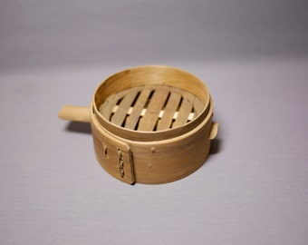 Chinese Bamboo steamer, cook your dim sum, Asian Chinese Hong Kong Food, Kitchen magnet or Deco