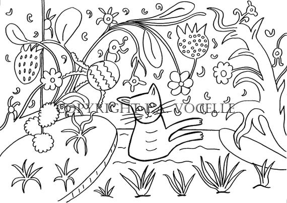 - Coloring Pages Coloring Books For Adults Cat Coloring Kitty Etsy
