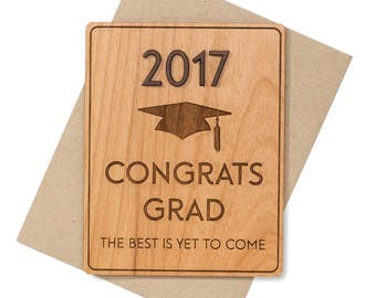Class of 2018 Graduation Gift. 3D College Graduation Card for Him, for Her. High School Graduation Card.