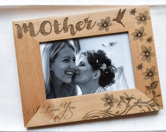 Mother Gift Wooden Frame. Gift for Mom Photo Frame Wood.