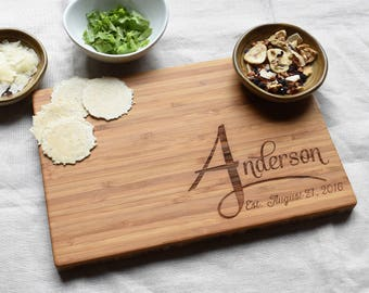 Engraved Wood Cutting Board. Personalized Gift Bamboo Cutting Board. Anniversary Gift for Her, Gift for Him,  Gift for Mom.
