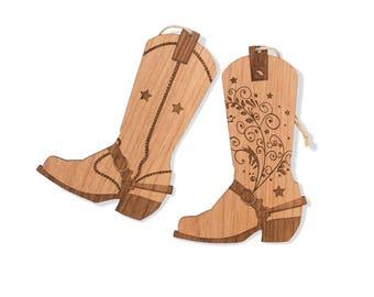 Cowboy Boots Tree Ornament Set. Texas Christmas Ornament. Western Theme Christmas Tree Ornament. Cowgirl Boots.