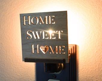 Wooden Nite Lights Interchangeable. Rustic Home Decor LED Night Light.