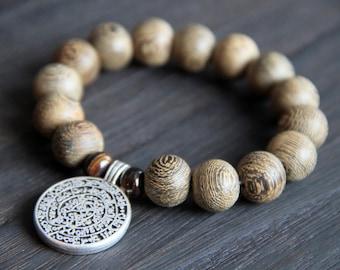 Mala Bead Bracelet, meditation, yoga, feel good, warm, nude, love, wood, temple, shrine, Tokyo, all natural, jewelry, mindfulness, peaceful,