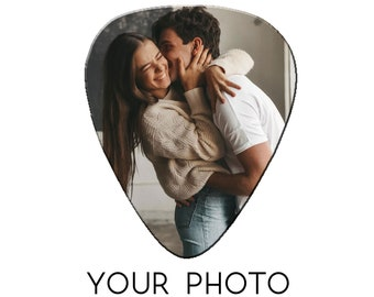 One Photo Guitar Picks - Photo Gift - Personalized Guitar Pick - Gift for Him - Gifts for Day - Christmas Music Keepsake
