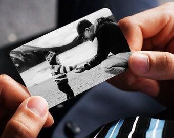 Engraved Photo Metal Wallet Insert, Laser engraved wallet card insert, personalized wallet card, wallet insert, metal wallet card,