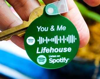 You & Me by Lifehouse  Spotify Keychain Scan Code | Spotify Link | Engraved | Music Keychain | Personalized Spotify | Modern Mixtape