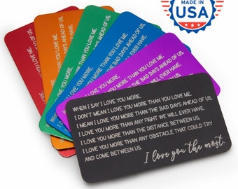 Love You Most Wallet Card, Boyfriend or Husband Gift for Him, Customized Photo Card