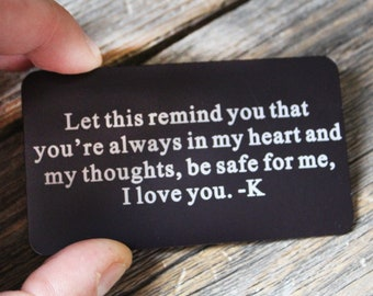 Custom Metal Text Card Does Not Bend Any Text Engraving, Wholesale Metal Text Card, Special Message Card