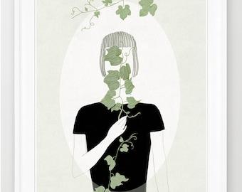 Hide and seek, print of orginal drawing