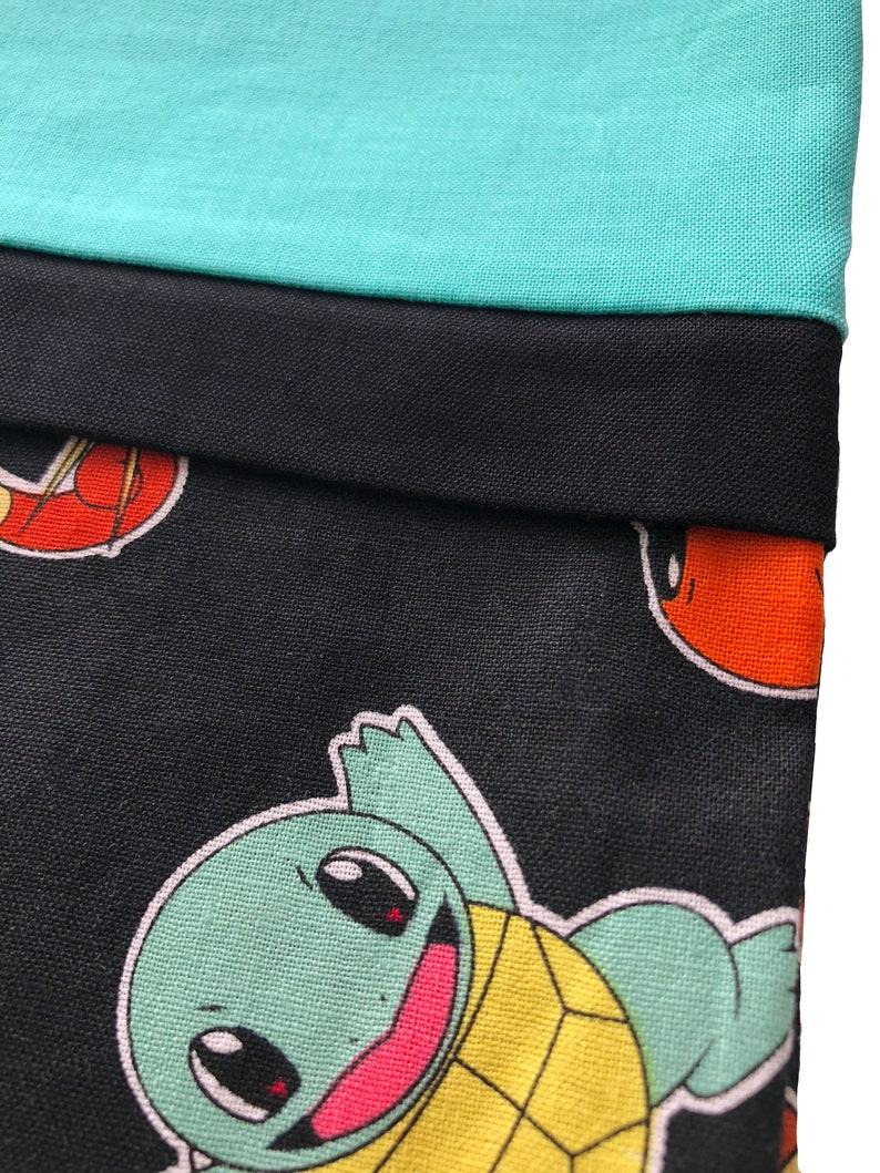 Personalization available! Handmade Pokemon Pillowcase French Seam Pillowcase Pokemon Bedding Starter Pokemon