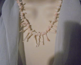 14 Kt Hawaiian Angle Skin Branch  Coral Hand Crafted Necklace