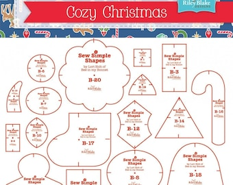 Cozy Christmas Shapes 20 Templates Lori Holt Bee In My Bonnet
