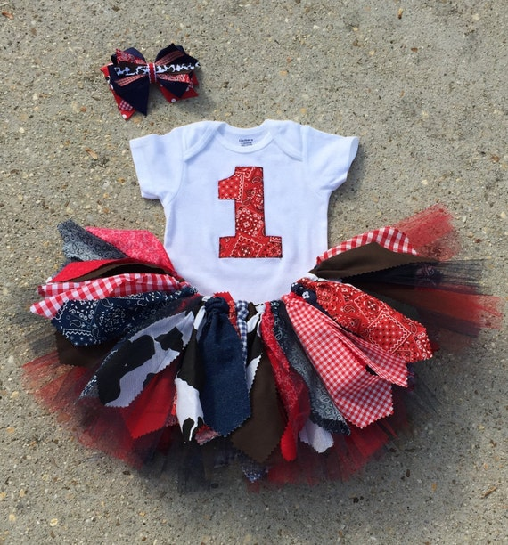 Navy And Red Cowgirl Birthday Outfit Tutu