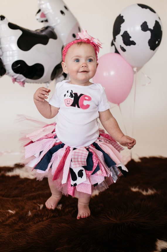 Pink Cowgirl Birthday Outfit First Tutu