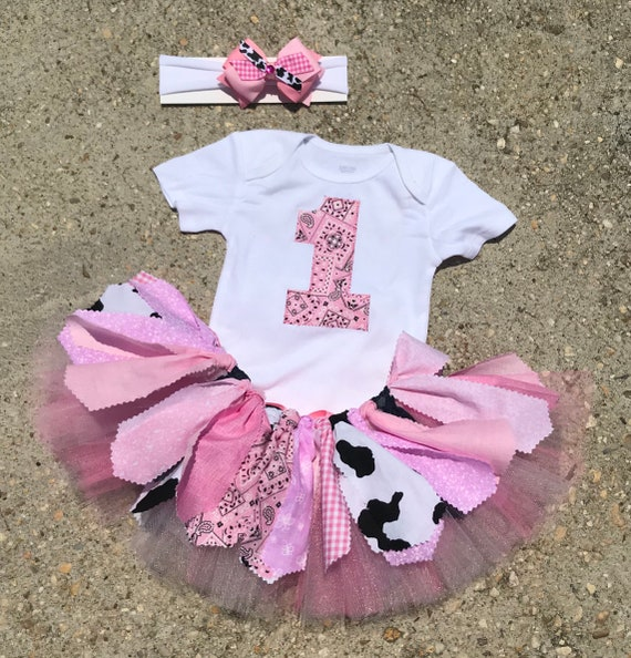 Pink Cowgirl Birthday Outfit Tutu