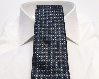 Tie (2.75 inch) in Dots with Shades of Grey Gray Charcoal and Black (Pocket Square available)