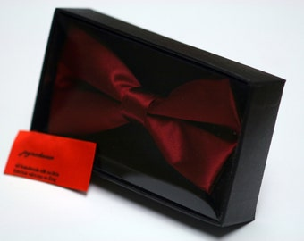 Red Silk Bow Tie with Gift Box