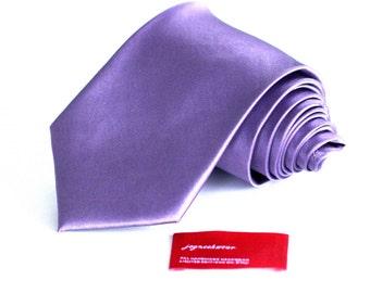 SILK Tie in Dark Iris Mauve Purple