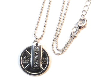 Fitness Neckless, Fitness Jewelry, Fitness Gift, Cross Training Necklace, Cross Training Gift, Weight lifting, Fearless Exercise Necklace