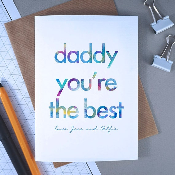 Birthday Card For Daddy Daddy Youre The Best Dad