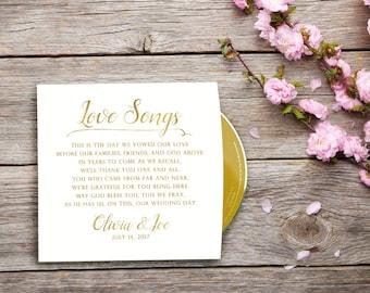 Custom Printed CD Sleeves, CD Cover, Sleeve Wedding Favors, Gold Wedding Favors, Color Printed CD Sleeves, Custom Album Covers, Party Favor