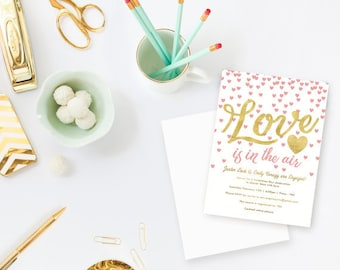 Love is in the Air Invites, Thank Yous & Recipe Cards - Custom Order