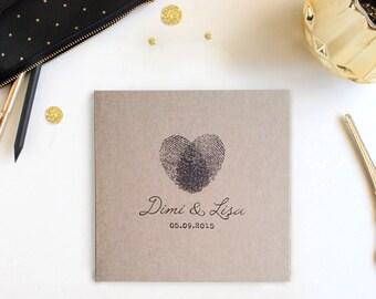 Rustic Custom Kraft CD Sleeves - CD Wedding Favors - Kraft Photography Portfolio Dvd / CD Covers - Fingerprint Heart