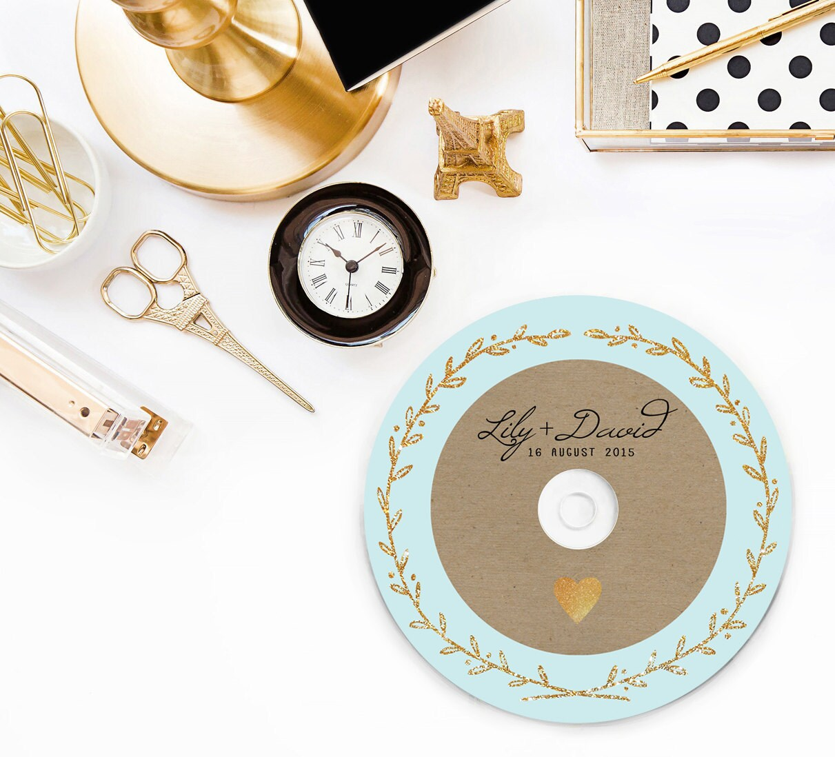 It's just a picture of Slobbery Personalised Cd Labels Wedding