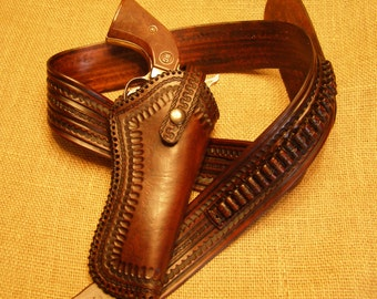 Leather  Cartridge Belt/Holster Combo