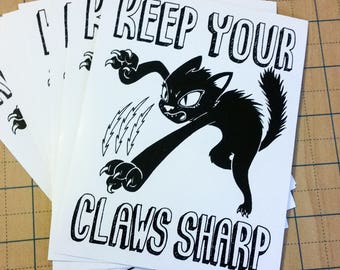 Keep Your Claws Sharp sticker