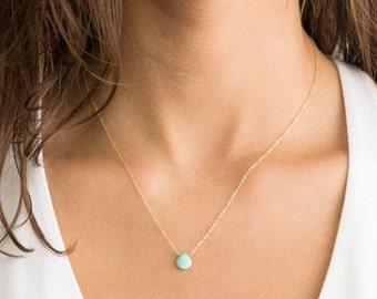 Real Turquoise Necklace, GORGEOUS GENUINE Sleeping Beauty Turquoise on 14k Gold Fill, Sterling Silver, or Rose Gold Fill, LN632