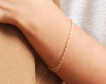 Dual Chain Bracelet • Layering On Single Clasp • Simple, Dainty, Everyday Layered Collar Style Necklace • 14k Gold Fill, Silver • GBX0014