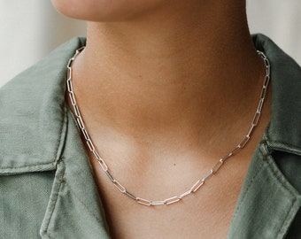 Paperclip Chain Necklace • Timeless Layering Chains • GNC_0006 & GNC_0008