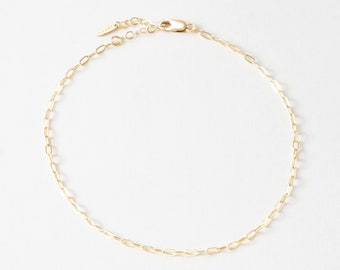 Mini Paperclip Chain Anklet