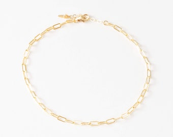 Small Paperclip Chain Anklet