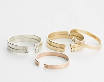 Personalized Initial Ring • Custom Stacking Ring, Personalized with Hand-Stamped Letters • Stackable Personalized Rings • LR501_1.8