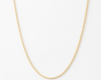 Round Box Chain • Everyday Layering Chain • Gold & Silver • GNC_0015