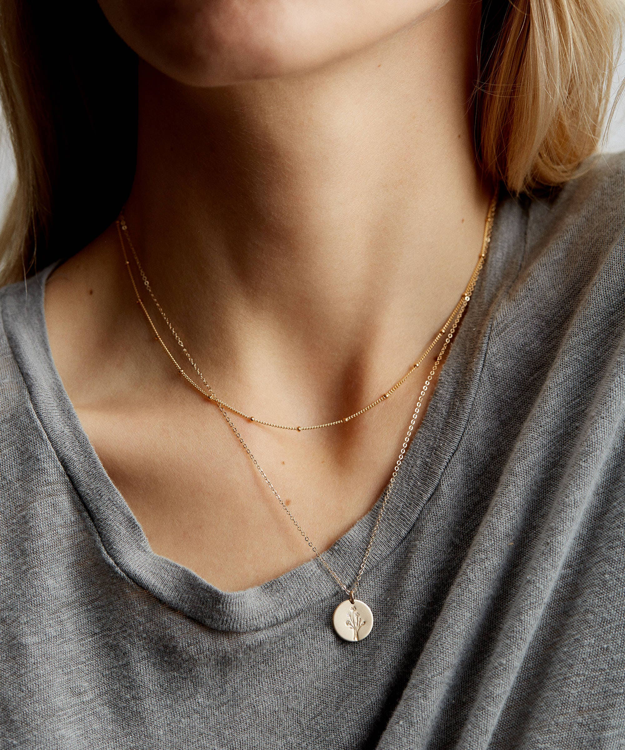 4 Delicate Pieces Layer gold layering necklace set of 4 necklace dainty layer charm necklace long dangle coin necklace