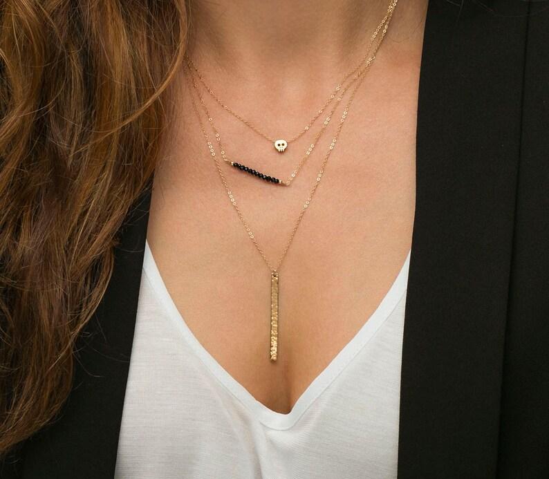 7a052b2d0d4a Birthstone delicados collares collar de todos los días oro