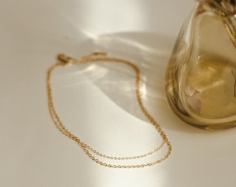 Double Cable Chain Anklet