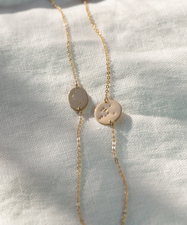 Sisters Zodiac Constellation Bracelet \u2022 Zodiac Jewelry for Friends Girlfriends \u2022 Custom Jewelry for Women \u2022 Layered and Long GBL/_0222/_ZC
