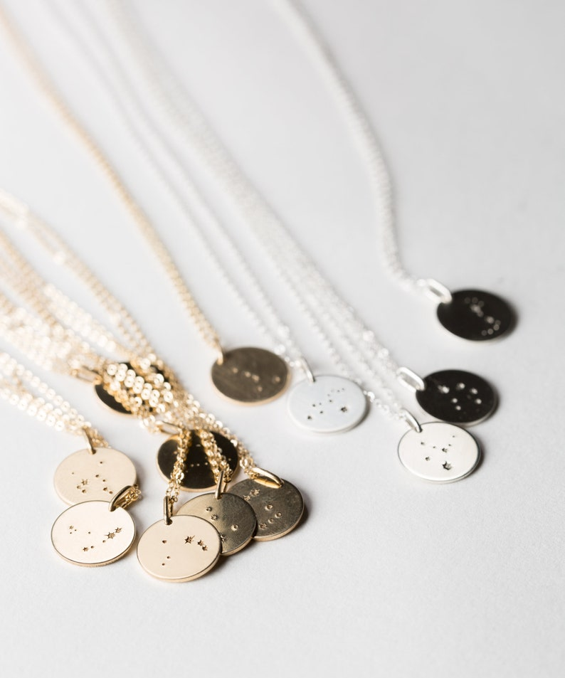 Minimal Constellation Necklace Custom Zodiac Gifts Gold Silver LN201 Girlfriends Sisters Simple Gift Idea for Friends