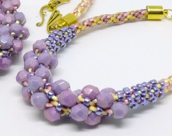 Kumihimo Necklace and bracelet,