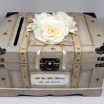 Wedding Card Box with Slot. Vintage Wedding Card Box Trunk, Champagne Card Box , Ivory, Champagne, Pearl Wedding Decor, Card Holder, Money