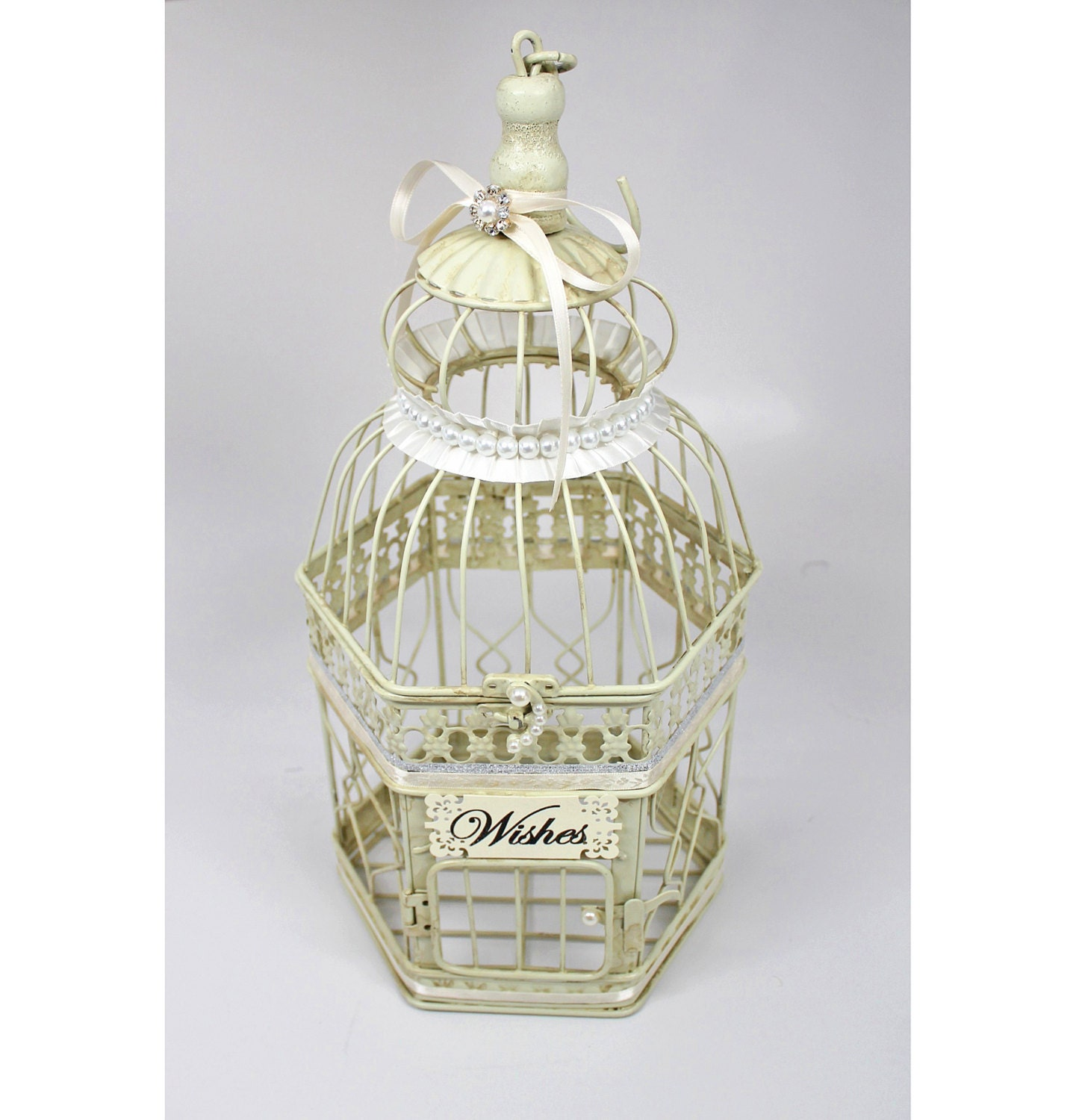 Centerpiece Wishing Well Wedding Birdcage Centerpiece Bird